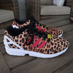 Adidas ZX Flux Torsion Cheetah Sneakers Size 7